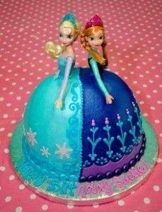 anna and elsa cake
