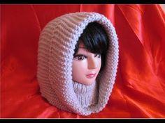 Glugă de damă tricotată foarte ușor și rapid PARTEA A II-A receta real Crochet Hooded Cowl, Crochet Shawl, Diy Crochet, Knitting Stiches, Baby Knitting, Knitting Patterns, Crochet Patterns, Crochet Videos, Crochet Scarves