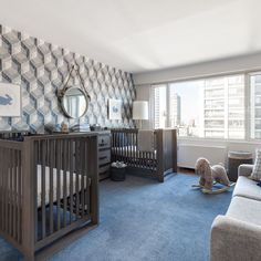 25 Adorable Nursery Room Ideas For Twins 6 – Home Design Nursery Twins, Baby Boy Nurseries, Nursery Room, Nursery Decor, Nursery Ideas, Project Nursery, Nursery Pictures, Elephant Nursery, Child's Room