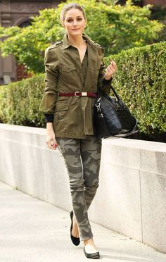 chic army look