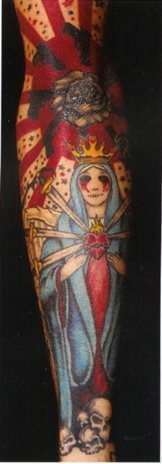 Frank Iero beautiful tattoo - The Lady Of Sorrows ♥️ S Tattoo, Sleeve Tattoos, Cool Tattoos, Crazy Tattoos, Tattoo Pics, Dream Tattoos, Tatoos, Frank Iero Tattoos, Sweet Revenge