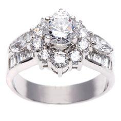 <li>Cubic zirconia engagement-style ring</li><li>Sterling silver jewelry</li><li><a href='http://www.overstock.com/downloads/pdf/2010_RingSizing.pdf'><span class='links'>Click here for ring sizing guide</span></a></li>