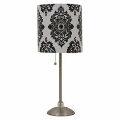 Picked up this cheap little number for my home office (which consists of a small glass desk). I'm getting addicted to damask.