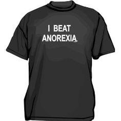 I BEAT ANOREXIA Logo Men's Tee Shirt 5XL-Charcoal (Apparel) http://www.amazon.com/dp/B001A4BV2Q/?tag=wwwmoynulinfo-20 B001A4BV2Q