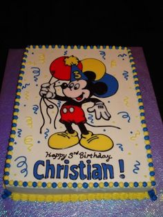 Mickey Mouse Birthday Cake By cakesksa on CakeCentral.com