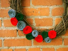 Rosette holiday wreath #diy
