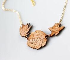 Succulent Necklace - Garden Trio. $26.99, via Etsy.