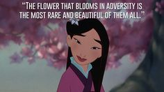 "<b>""The flower that blooms in adversity is the most rare and beautiful of all.""</b>"