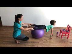 Ćwiczenia z piłką - wzmacniamy mięśnie posturalne dziecka vol1 - YouTube