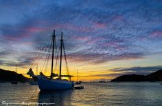 Dusky sunset, over the Friendship Rose, Bequia - St Vincent & The Grenadines