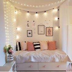 One Room Living How To your Hostel Room Teen Room Decor Ideas Hostel Living Room Cute Bedroom Ideas, Cute Room Decor, Teen Room Decor, Bedroom Themes, Bedroom Ideas For Small Rooms For Teens For Girls, Box Room Bedroom Ideas, Bed Ideas, Dream Rooms, Dream Bedroom