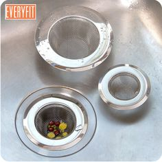 High Quality Stainless Steel Kitchen Sink Strainer Stopper Waste Plug Sink Filter Filtre Lavabo Bathroom Hair Catcher 2019 New At Any Cost Home & Garden Kitchen,dining & Bar