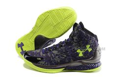 huge selection of bacdb 5552d Under Armour UA Curry One 2015 All Star Black Purple Green Basketball Shoes  Sale Discount