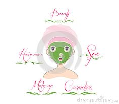Beauty and Care logo template set.