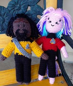 To bravely go where no man has ever gone before in exploring space: The last frontier! This darling little Klingon doll has been loving inspired by The Next Generation's very own Worf!