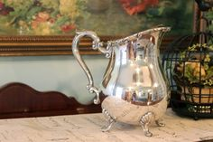 Silver Plate Georgetown FB Rogers Water Pitcher with Ice Catch.