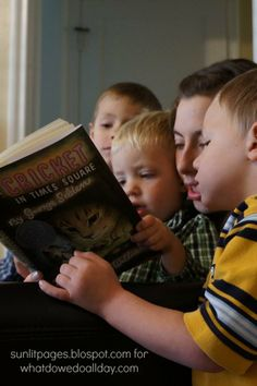 Helping young children love chapter books. Great tips from a mom of 3 boys!