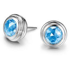 John Hardy Batu Bedeg Swiss Blue Topaz Stud Earrings (12.185 UYU) ❤ liked on Polyvore featuring jewelry, earrings, handcrafted jewelry, john hardy, handcrafted jewellery, john hardy jewelry and post back earrings