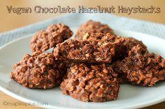 Vegan Chocolate Hazelnut Haystacks