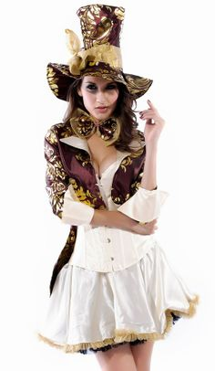 02b1b303b Deluxe Tea Hatter Party Costume Skirt Cosplay Costumes