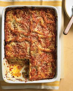 Fresh, homemade noodles make this lasagna worthy of a special occasion. Tucked between the pasta layers are roasted eggplant, zucchini, and red onions.
