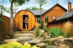With the new facilities at Nordik Spa-Nature, including three new saunas, a floating bath and infinity pool, it's now the largest day spa in North America. Ottawa, Sauna Sec, Spa Nature, Places Around The World, Around The Worlds, Barrel Sauna, Treehouse Cabins, Chelsea, Finnish Sauna