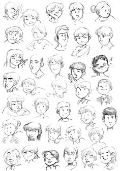 Exercice n°5: Expressions du visage - ○ Rough ○ - Webcomics.fr