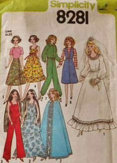 Barbie Doll Clothes Vintage 1977 Pattern 8281 by SewStitchQuilt, $12 ...