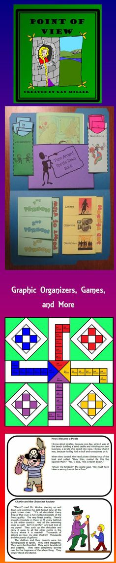 Foldable graphic organizers, task cards, games, and fun activities make this point of view resource a fun educational experience! $