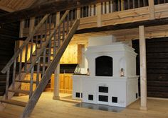 Leivinuuni-puuhella Brick Masonry, Japanese Interior Design, Interior Architecture, Building A House, Sweet Home, Stairs, Rustic, Fireplaces, Houses