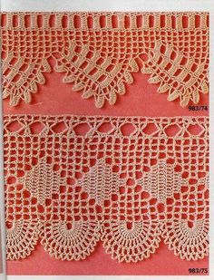 This Pin was discovered by Gök Filet Crochet, Crochet Lace Edging, Crochet Borders, Crochet Diagram, Thread Crochet, Crochet Trim, Crochet Flowers, Crochet Stitches, Crochet Patterns