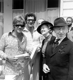 Robert Redford, Sydney Pollack , Arthur & Nela Rubinstein in 1972