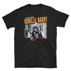 Gorillas – Jurassic Gorilla Magnum Force, Mens Tops, T Shirt, Clothes, Supreme T Shirt, Outfits, Tee, Clothing, Clothing Apparel