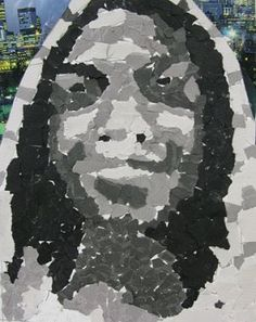 Photorealist Self-Portrait in the Style of Chuck Close