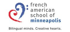 Creative logo & Tagline by Maestro Communications for the French American School of Minneapolis