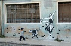 Blek Le Rat in Valparaiso, Chile Blek Le Rat, Chagall Paintings, Grafitti Street, Stencil Graffiti, New York Graffiti, Pavement Art, Graffiti Styles, Sand Art, Public Art