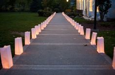 paper bag lumineries at the reception please #decor, #lighting