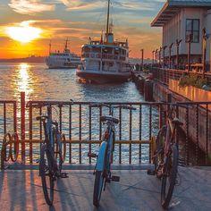 #istanbul #kadıköy #rıhtım #sunset #vapur #steamship #oneistanbul #canon #comeandsee #photooftheday #bike #bicycle #bisiklet #follow
