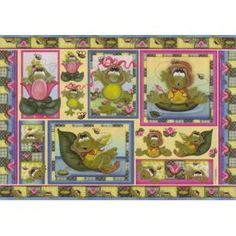 PD-171 PAPEL DECOUPAGE 49X34,3 RANAS ESTANQUE