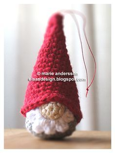Gnome Ornament... site is in Swedish, so use the Google translator for this one.