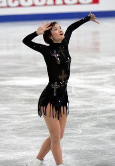 Shizuka Arakawa  Black Figure Skating / Ice Skating dress inspiration for Sk8 Gr8 Designs