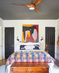 Natalie papier's pattern filled home is the coolest house you'll see this week 58 ~ Design And Decoration Painted Interior Doors, Dining Room Wallpaper, Living Room Lighting, Architectural Digest, Interior Inspiration, Design Inspiration, House Colors, Home Goods, Bedroom Decor