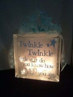 glass block night light | Decorative Glass Block Night Light for Baby's ... | You did what with ...