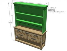 I want to make this!  DIY Furniture Plan from Ana-White.com  A hutch is a simple easy to build project that can transform a blank wall into a storage masterpiece. Hutches keep handy all your favorite belongings, anything from dishes to photos to even shoes or entertaiment essentials. This hutch fits over the Dresser with Open Bottom Shelf.