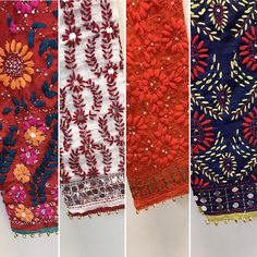 Shop Online Phulkari Pants in USA  2-3 day shipping from California  Click below to shop www.pinkphulkari.com Hand Embroidery Videos, Indian Embroidery, Embroidery Suits, Cotton Saree Designs, Salwar Designs, Mehndi Designs, Phulkari Pants, Latest Suit Design, Clothing Patterns