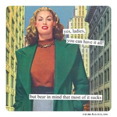 a bit of dark humor as we ebb closer to the weekend. You have to admit, Anne Taintor Inc is brutally on point. Her accessories (stationery, pill boxes, coffee mugs and flasks), are available (Image via Anne Taintor) Vintage Humor, Retro Humor, Retro Funny, Veronica Lake, Anne Taintor, Haha Funny, Funny Memes, Hilarious, Funny Sarcasm