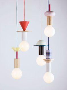 Mix-and-match pendant lights / Schneid @bingbangnyc