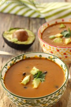Chipotle Sweet Potato and Black Bean Soup recipe   Craving Something Healthy