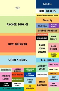 The Anchor Book of New American Short Stories. New York: Anchor Books, Print. Book Cover Art, Book Cover Design, Book Design, Book Covers, Book Art, Everything Burns, Good Books, My Books, David Marks