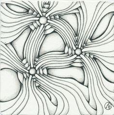 Curvy Lines - Antonine Tangles: Arukas - Welcome Back Diva - Update Tangle Doodle, Tangle Art, Doodle Art, Zentangle Drawings, Doodles Zentangles, Art Drawings, Doodle Patterns, Zentangle Patterns, Doodle Inspiration
